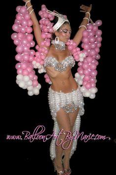 Balloon Dresses - Model:  Mysti Moon