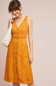Find Anthropologie women's fashion at ShopStyle. Shop the latest collection of Anthropologie women's fashion from the most popular stores - all in one Linen Dresses, Day Dresses, Cotton Dresses, Casual Dresses, Short Dresses, Casual Outfits, Fashion Dresses, Anthropologie Clothing, Summer Outfits