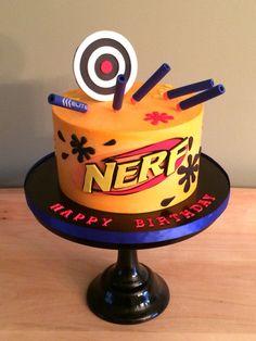 Buttercream Nerf cake - #Nerf - Kakes by Kristi
