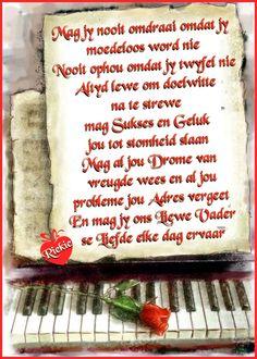 Afrikaanse Quotes, Goeie More, Good Morning Wishes, Words, Birthdays, Bullet Journal, Night, Anniversaries, Birthday