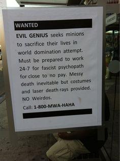 No weirdos.