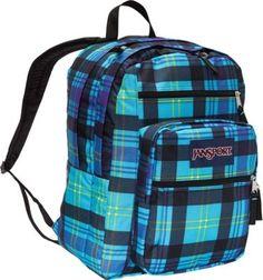 JanSport Big Student Backpack Mammoth Blue Preston Plaid - via eBags.com!