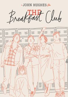 The Breakfast Club A4 Movie Poster Print