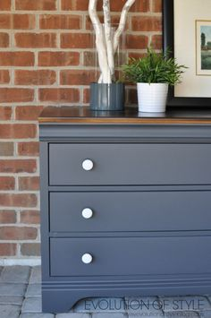 Queenstown Gray Dresser Makeover is part of Upcycled Crafts Furniture Dresser Makeovers - Queenstown Gray Dresser Makeover Bedroom Furniture Makeover, Painted Bedroom Furniture, Blue Furniture, Bedroom Dressers, Refurbished Furniture, Colorful Furniture, Repurposed Furniture, Furniture Design, Furniture Removal