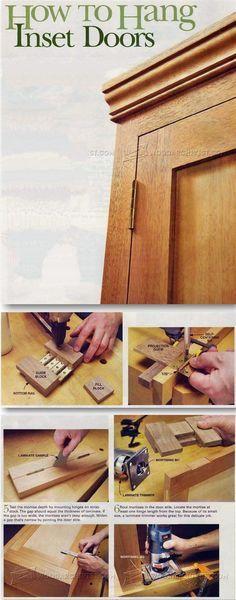 Installing Butt Hinges - Cabinet Door Construction and Techniques | WoodArchivist.com