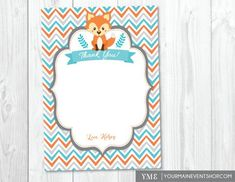 Fox Baby Shower Invitation Woodland Baby Shower Invite with