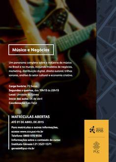 """Conheça o curso que oferece um panorama sobre o """"music business"""" no Brasil, com uma imersão sobre os novos caminhos da música no mundo."""