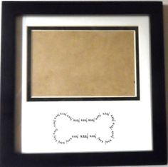 """Dog Picture Frame Black Woof Woof Pup Doggy Doggie Bone holds 4"""" x 6"""" Photo  #Unbranded #Novelty"""