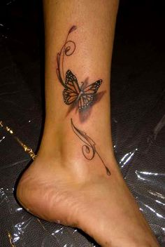 One of the coolest butterfly tattoos for your leg