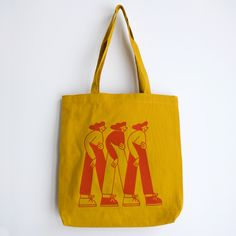 Girls Tote Bag - cecile gariepy - illustrations Printed Tote Bags, Canvas Tote Bags, Yiqing Yin, Madewell, Sacs Design, Painted Bags, Cecile, Textiles, Cotton Bag