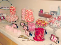 What a cute candy station! Baby Shower Candy, Baby Shower Themes, Baby Boy Shower, Baby Showers, Shower Ideas, Candy Table, Candy Buffet, Love Is Sweet, Sweet 16