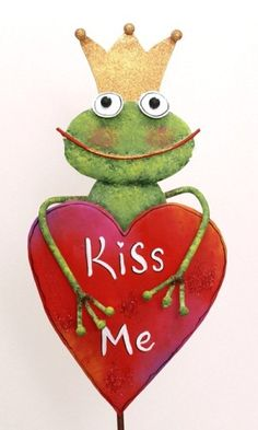 Kiss Me Frog by The Round Top Collection