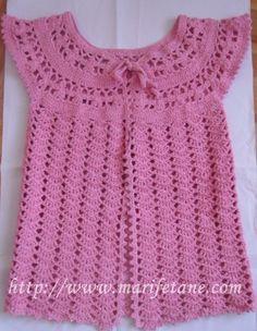 Tığ İşi Baharlık Yazlık Yelek Modeli Crochet Vest Pattern:Resimlerle tığ işi yelek yapılışı: http://www.marifetane.com/2013/02/tg-isi-baharlk-yazlk-yelek-modeli.html
