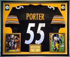 Premium Framed Joey Porter Autographed Steelers Jersey TSE COA - jerome  bettis 604d2042e