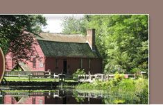 Gilbert Stuart Birthplace & Museum - North Kingstown, Rhode Island; he's the artist who painted George Washington as seen on the dollar bill