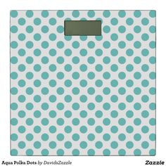 Aqua Polka Dots Bathroom Scale Available on many products! Hit the 'available on' tab near the product description to see them all! Thanks for looking!  @zazzle #art #polka #dots #shop #home #decor #bathroom #bedroom #bath #bed #duvet #cover #shower #curtain #pillow #case #apartment #decorate #accessory #accessories #fashion #style #women #men #shopping #buy #sale #gift #idea #fun #sweet #cool #neat #modern #chic #blue #aqua #light #dark #white