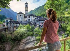 Drivers on the new #GrandTour of #Switzerland may visit the village of #Lavertezzo in the #VerzascaValley. // © 2015 TravelAge West/Switzerland Tourism