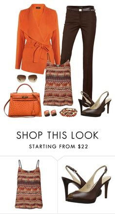 """""""Untitled #827"""" by gallant81 ❤ liked on Polyvore featuring MANGO, Vero Moda, Hermès, Nine West and Bulgari"""