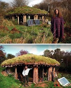 Sustainable Hobbit House - I believe this is one of the houses showed in a tv show called Laamas from the UK. Worth a watch, free too.