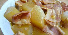 和風なのにバターが合う!ベーコンからでたお出汁をたっぷり含んだ大根が絶品です。