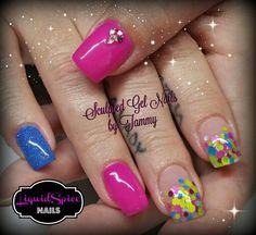 Frozen nail art With had painted Elsa. Nail innovationz ...