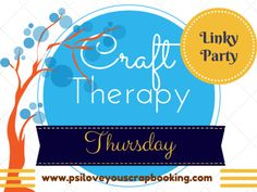 Craft Linky Party sponsored by P.S. I Love You - Come visit and link up to 3 craft projects. www.psiloveyouscrapbooking.com