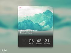 14 Countdown Timer designed by Robert Giza. the global community for designers and creative professionals. Web Design, Creative Design, Graphic Design, Innsbruck, Snowboard, Christmas Calendar, Countdown Timer, Event Calendar, Mobile App