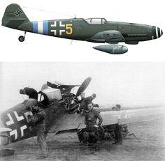 Messerschmitt Bf 109G-10/R3 Erla 3./JG300 ,Yellow 5 . WNr 151965 Prague Kbely Czechoslovakia May 1945