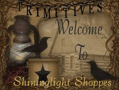 A great place to advertise and shop for primitive, Country and Colonial Home Decor and Crafts.
