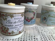Shabby Chic, Inside Home, Tin, Mason Jars, Arts And Crafts, Canning, Buckets, Travelling, Decoupage