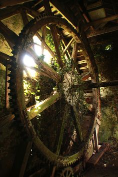 Abandoned watermill overgrown by weeds in Lincolnshire, England. Source: sebcoxfurniture (flickr)