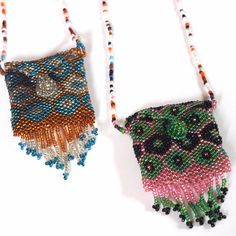 Medicine Pouch Beaded Necklace