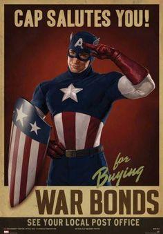 Captain America Movie Poster Puzzle Fun-Size 120 pcs
