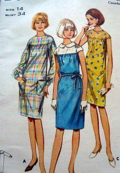 Lovely Vtg 1960s Dress Butterick Sewing Pattern 14 34 | 3887