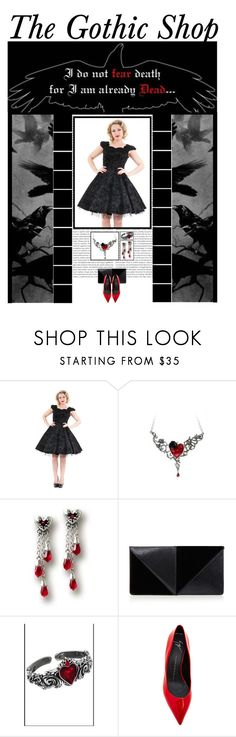 """""""The Gothic Shop (13)"""" by irresistible-livingdeadgirl ❤ liked on Polyvore featuring мода, Oris, UN United Nude, Giuseppe Zanotti, women's clothing, women, female, woman, misses и juniors"""