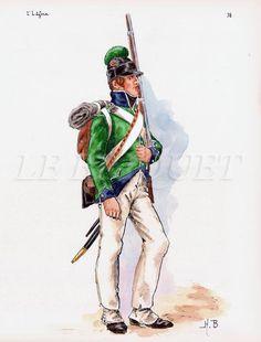 Cacciatore della 2 mezza brigata di fanteria leggera francese in Egitto