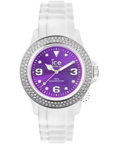 ICE Star Purple Stone White Rubber Strap Η τιμή μας: 129€ http://www.oroloi.gr/product_info.php?products_id=33897