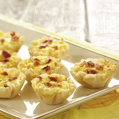 Makeover Mini Bacon Quiches Recipe -I asked the Taste of Home Test kitchen to help lighten up the Mini Bacon Quiches recipe my friends and family love—but not to touch the bacon! Calories, fat and sodium were slashed—but not one lick of real bacon flavor! —Julie Hieggelke, Grayslake, Illinois
