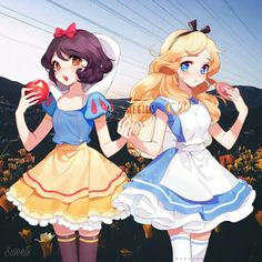 Disney Anime Snow White Alice  Alice in Wonderland  Disney  Blancanieves  Poison Apple