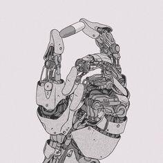 Arte Robot, Robot Art, Character Art, Character Design, Character Concept, Arte Cyberpunk, Robots Characters, Ghost In The Machine, Robot Concept Art