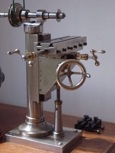 Rare and Antique Watchmaker Milling Machine with Wheel Cutting Attachment: