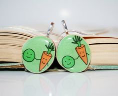 Best friend necklace set wood peas and carrots by starlightwoods, $27.00