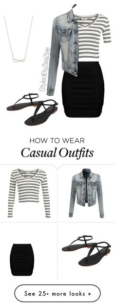 """""""Casual day"""" by zeadaniella on Polyvore featuring Miss Selfridge, Zizzi, LE3NO and Cocobelle"""