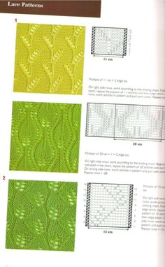 ru / Photo # 5 - Flora and bumps - Inna-Mina Lace Knitting Stitches, Lace Knitting Patterns, Knitting Charts, Lace Patterns, Knitting Designs, Knitting Projects, Stitch Patterns, How To Purl Knit, Crochet Yarn