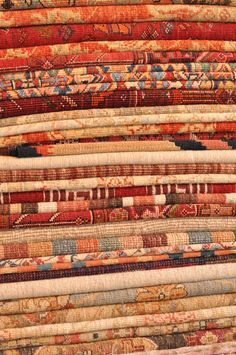 Stacked Oriental Rugs A Beautiful Sight Within Itself