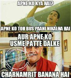 Share your Remark on the #trolls, Hindi #Jokes, #Punjabi Jokes, Funny #pictures & jokes, Spectacular Silly jokes. Get all updates of modern Hindi & Punjabi joke & other #Humorous troll only on @ www.trolltree.com #Funny #Bollywood ( #AlokNath )Trolls : The #Water True Amrit