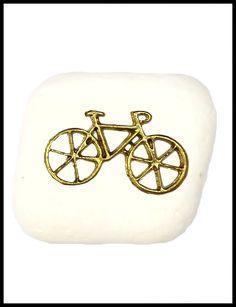 Μπομπονιέρα σε πέτρα με επίχρυσο ποδηλατάκι
