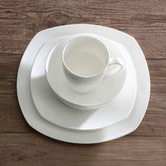 Arista Soft Square Bone China Dinnerware Set & Roscher 32-pc. Braid Bone China Dinnerware Set | Dishes | Pinterest ...