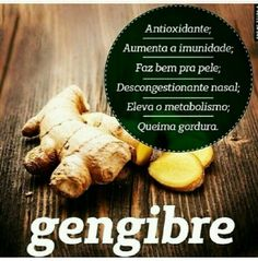 Gengibre....... Detox, Healthy Recipes, Healthy Food, Fitness, Healthy Lifestyle, Natural Health, Health And Wellness, Health Tips, Recipes