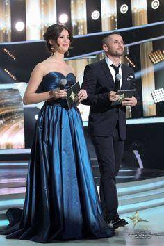 Nóra Ördög, Hungarian presenter, wears a night blue Daalarna Couture evening dress at Rising Star. Strapless Dress Formal, Formal Dresses, Blue Wedding, Fashion, Dresses For Formal, Moda, Formal Gowns, Fashion Styles, Formal Dress